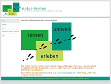 Tablet Preview of natur-lernen.ch